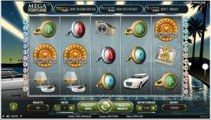 Registrera dig på Highroller för att spela på jackpottspelet Mega Fortune!