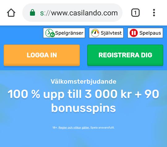 Hämta välkomstbonus på Casilando i deras mobilcasino!