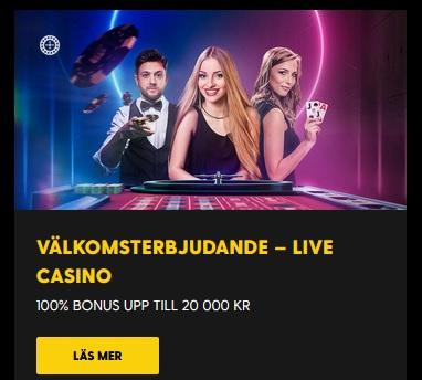 Hämta din live casino bonus nu på Bethard!