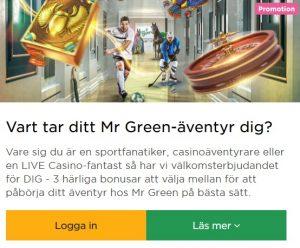 Klicka här och delta i Mr Green Julkalender!