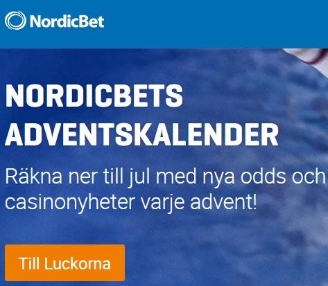 Adventskalendern från NordicBet 2019!