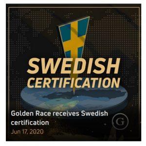 Svenskt spelcertifikat för Golden Race nu!